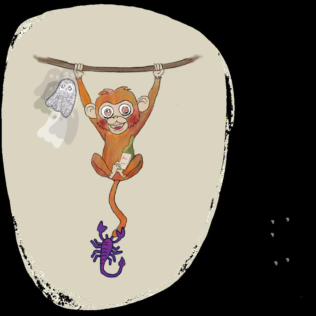 Monkey mind, monkey, aap